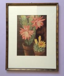 Henk van Gemert zeefdruk,screen print,cacti, cactus, zeefdruk Frame